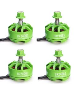 4x Racerstar BR2406S Green Edition 2300KV 2-5S Brushless Motors