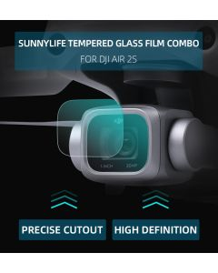Sunnylife 2 Sets HD Tempered Glass Film Lens Protector for DJI Air 2S