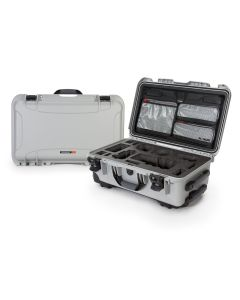Nanuk 935 Case with Lid Organiser for Sony A7 (Silver)