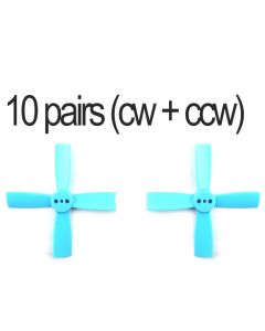 10 pairs (10cw + 10ccw) Racerstar 2035 4 Blade ABS Propeller Light Blue
