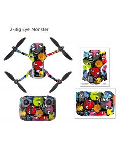 Sunnylife PVC sticker Waterproof Scratch-proof Decals Full Cover Skin for Mini 2 (Big Eye Monster)