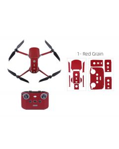 Sunnylife Protective PVC Stickers Skin for Mavic Air 2 (Red Grain)